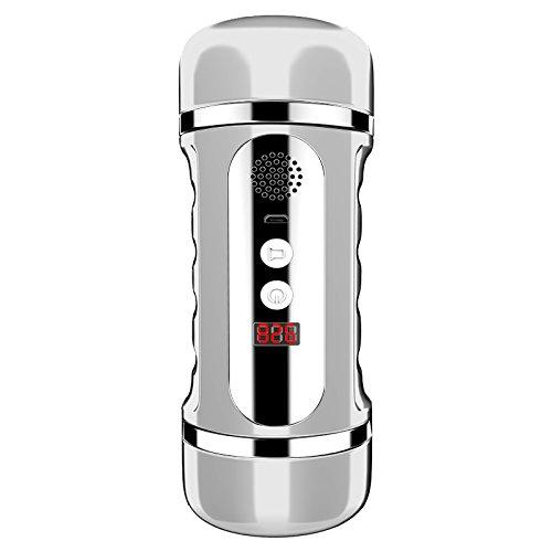 SSCJ Doppel-Köpfige Männliche Masturbations-Gerät-Namen-Form-Umgekehrte Frequenz-Erschütterungs-Selbstverteidigungs-Gerät-Erwachsene Produkte,White