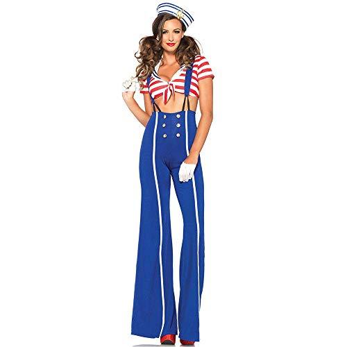 rmance Kleidung, europäische und amerikanische Riemen-Kleid, Navy Anzug, Frauen Matrosenanzug, 70er Jahre Disco-Hose Cos Kleidung ()