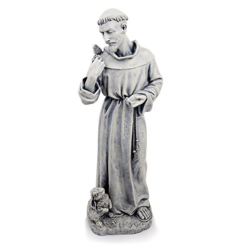 Joseph Studio 89944hoch St. Francis mit Bunny Garten Statue, 24