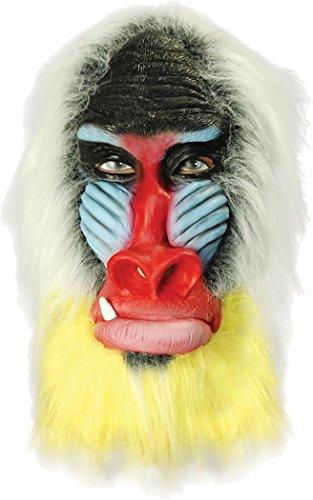 üm Zubehör Mit Kapuze Wildtiere Jungle Tier Kostüm Maske - Pavian ()