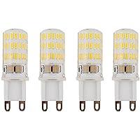 LuxVista Lampadine G9 LED 5W 3000K Bianco Calda [4 pezzi], 450lm Sostituzione Lampada Alogene 40W 46pcs Risparmio Energetico Super Luminoso SMD LEDs 360 °, Luce G9 per Lampade a Sospensione e Plafoniere - Non Dimmerabile