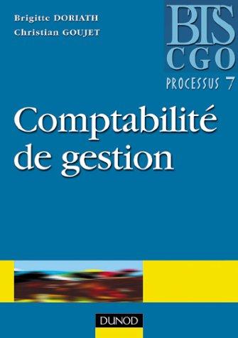 Comptabilité de gestion BTS CGO. : Processus 7 : détermination et analyse des coûts