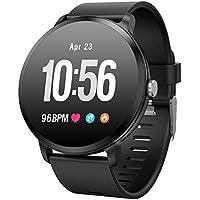Fitness Tracker Smart Watch, Activity Tracker mit Pulsmesser, Farbbildschirm Fitness Watch mit Anruferinnerung Schlafmonitor Blutdruckmonitor Schrittzähler, Schrittzähler Uhr, IP67 Wasserdicht