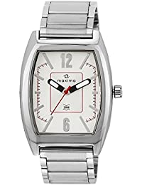 Maxima Attivo Analog White Dial Men's Watch - 35360CAGI