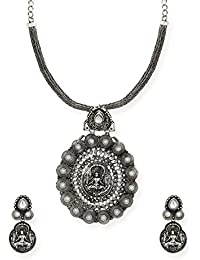 Zaveri Pearls Jewellery Set For Women (Silver) (ZPFK6604)