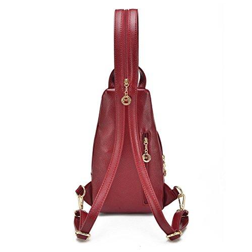 Mefly Signora Chest Pack Bag Ladies Leisure Sacchetto Giallo Claret