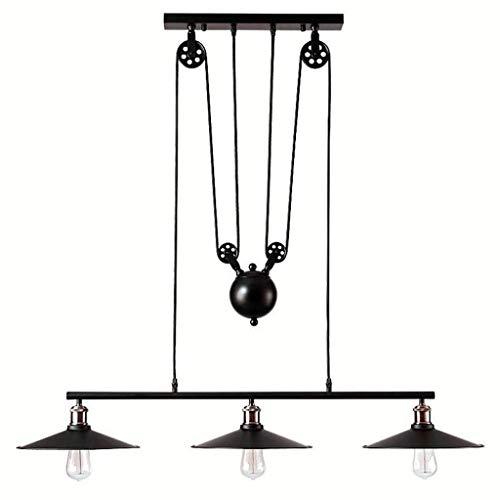 Retro Industrie Wind Eisen Kunst Heben Kronleuchter, Geeignet für Restaurant / Bar / Cafe / Bekleidungsgeschäft Kronleuchter, Dekoration Lampen Vintage Kronleuchter Deckenleuchte(ohne Glühbirne) -