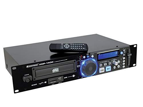 Omnitronic XDP-1400 CD-/MP3-Player | CD- und MP3-Player für CD, USB und SD | USB-2.0-Schnittstelle zum Anschluss von USB-Speichergeräten
