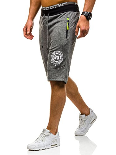 BOLF – Pantalons de sport – Jogging pantalons – Homme Gris foncé