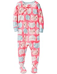 Carter's Baby Girls' 1 Piece Cotton Printed Footie (Baby) - Pigs - 24 Months Color: Pigs Size: 24 Months (Baby/Babe/Infant - Little ones)
