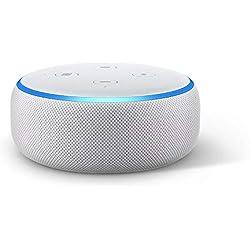 Echo Dot (3ème génération), Enceinte connectée avec Alexa, Tissu sable