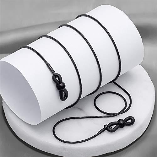 DFHNJIY Retro Brillen Kette Lesebrille Metallschnüre Sonnenbrillen Brillenhalter Optische Rahmen Seil,C