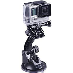 Smatree Support Ventouse pour GoPro Hero 8/7/6/5/4/3/2/1/Session/DJI OSMO Action