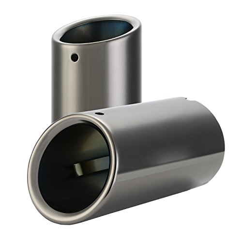 CICMOD 2x Auto Endrohr Auspuffblende Edelstahl Tip Exhaust Muffler Pipe