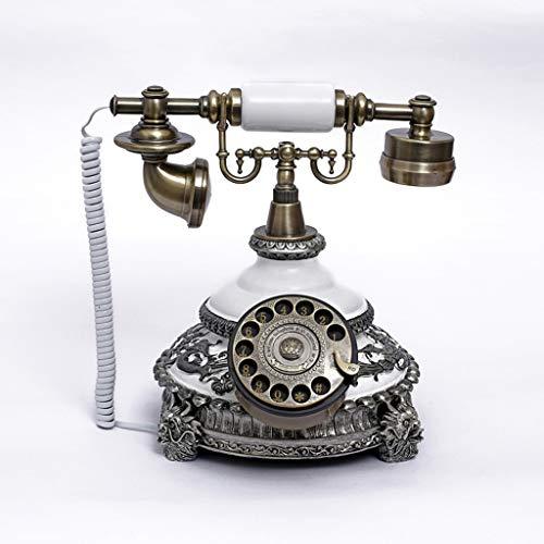 /Retro Telefon aus Resin - Funktionelle Drehscheibe und Klassische Metallglocke ()