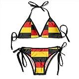 Bikinis,Bandiera della Germania Costumi da Bagno Bikini Triangolo Triangolare Fondo Cravatta Donna