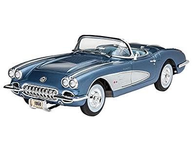 Revell Modellbausatz Auto 1:25 - '58 Corvette Roadster im Maßstab 1:25, Level 4, originalgetreue Nachbildung mit vielen Details, 07037 von Revell