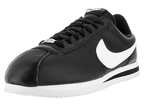 Nike Mens Cortez Basic Leather Trainers Schwarz Weiss