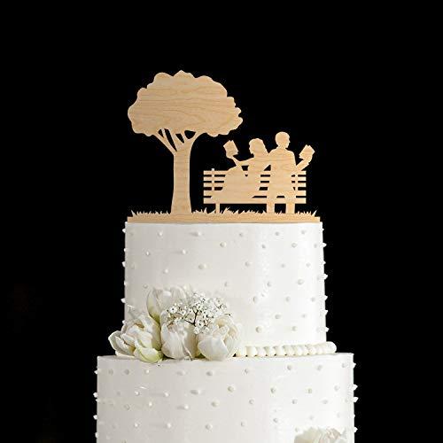 Sie themenorientierte Hochzeitstorte Topper f¨¹r Buch Loverbook Thema Hochzeit TopperBuchen Sie Liebhaber Hochzeitstorte TopperBook themenorientierte Dusche Kuchen topper820 ()