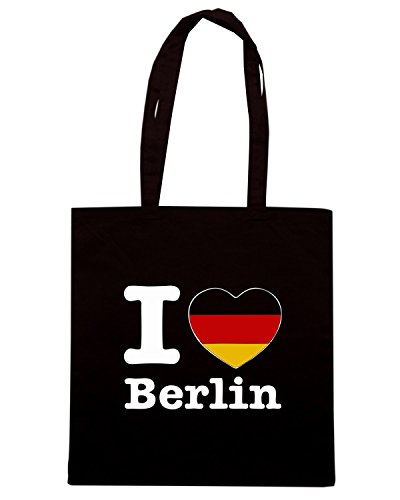 T-Shirtshock - Borsa Shopping TLOVE0099 i love berlin (3) Nero