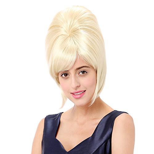STfantasy Damen Perücke Blonde Elegant Palast Prinzessin 60er Jahre Bienenstock Wigs für Anime Cosplay Kostümparty Halloween ()