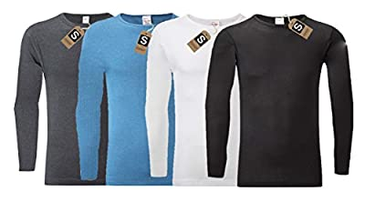 Men's Thermal Long Sleeve Top, Warm Underwear Baselayer, S M L XL XXL Thermals By Sockstack®