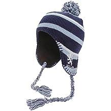 Gorro invierno estilo peruano diseño Scotland con borlas y detalle Leon niños niñas