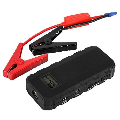 Preisvergleich Produktbild Uvistar Autostarter Powerbank Dual USB Starthilfe KFZ Mobile Startgerät mit Zigarettenanzünder Autobatterie Anlasser Fremdstarten Notladegerät, für Laptop Smartphone Tablet mit LED Beleuchtung.