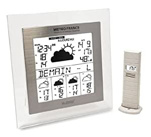 La Crosse Technology WD9542 Station Météo France J+4/Alerte - Transparent/Aluminium