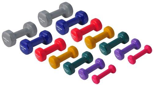 29Kg (2x0.5, 2x1, 2x1.5, 2x2, 2x2.5, 2x3, 2x4) Vinyl Gymnastikhantel Hantel-Set