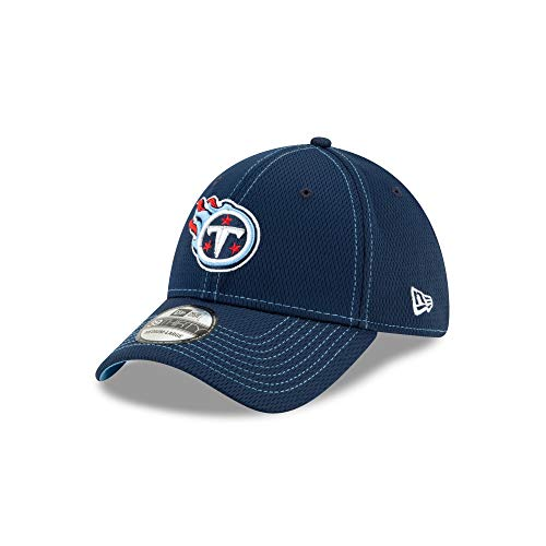 New Era NFL Tennessee Titans Authentic 2019 Sideline 39THIRTY Stretch Fit Road Cap, Größe :S/M