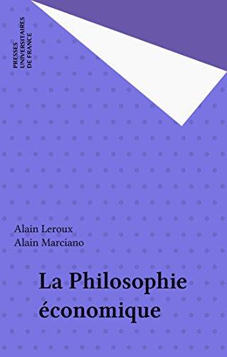 La Philosophie économique