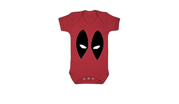 Deadpool Inspired Cool Retro Baby Girls Grow Top Bodysuit