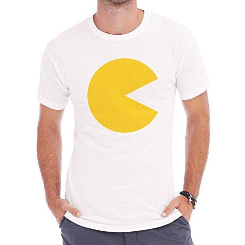 Pack Man Yellow Game Nintendo No Eye Herren T-Shirt Weiß
