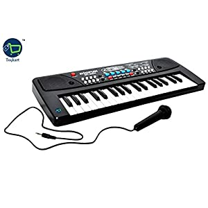 Toykart 37 Key Piano Keyboard Toy with DC Power Option, Recording and Mic for Kids – 2018 Latest Model