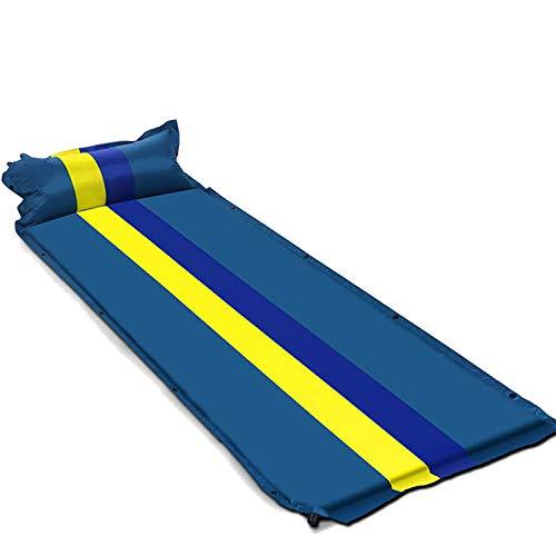 FLDONG Camping Strandmatte aufblasbare Doppelmatratze Single Beach Selbstaufblasende Reisematte Outdoor Luftmatratze für Isomatte, Blau 1