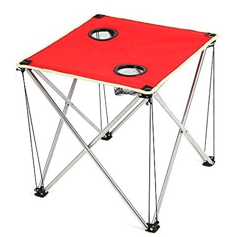 table pliante extérieure plage Voyage barbecue Oxford table basse en tissu ultra - portable léger , red