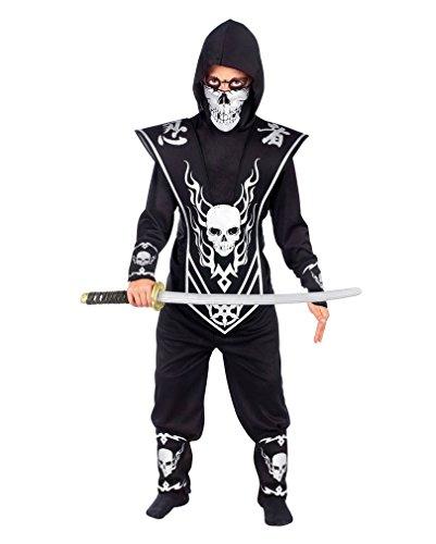 stüm Set Totenkopf Ninja L (Japanische Krieger Mädchen Kostüm)