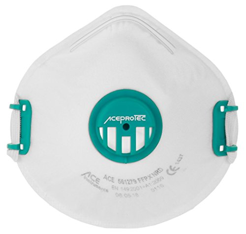 Staubschutzmaske FFP3 EN 149 von ACE - 5er Pack Atem-Maske für Damen & Herren, Ideal auch gegen Viren