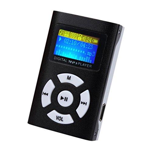 Malloom® Mini USB Reproductor de mp3 Soporte 32GB Micro SD TF Card (negro)
