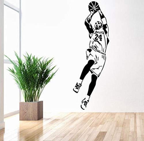 CQAZX Tapete Basketball Player Wandaufkleber Steuern Dekor Fan Geschenke junge zimmer aufkleber...