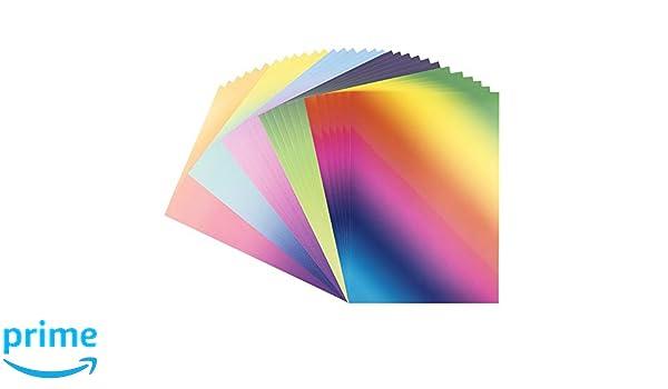 250 g//m/² Dekor-Papier mit Farbverlauf bunter Deko-Karton intensiv oder Pastell DIN A4 10 Verschiedene Farbverl/äufe | 30 Bogen