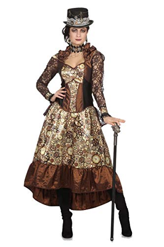 Wilbers Damen Kostüm Steampunk Kleid Karneval Fasching Gr.48