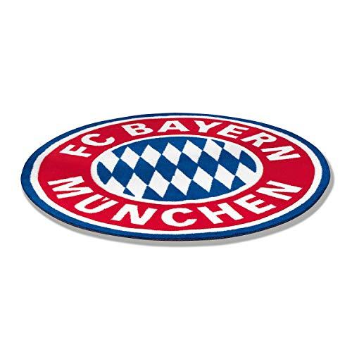 FC Bayern München Fan-Teppich, Teppich Fussball Logo FCB - Plus Lesezeichen I Love München (Lesezeichen Teppich)
