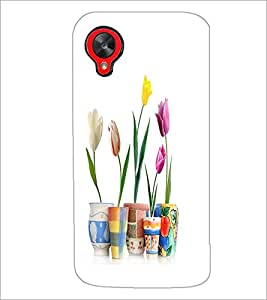 PrintDhaba Flowers D-2108 Back Case Cover for LG GOOGLE NEXUS 5 (Multi-Coloured)