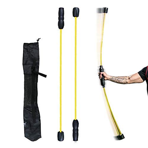 JEEZAO Flexibar Swingstick, Schraubgewinde, Schwingstab -Gymnastik für Zuhause ideal für unterwegs und auf Reisen Doppelteil, abnehmbar, 160cm