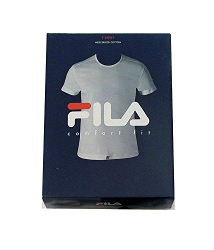 FILA intimo uomo t-shirt mezza manica art 46023 100% cotone (6XL, Bianco)