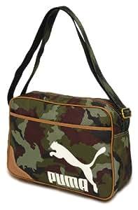 Puma Campus Flight Bag Tasche Retro-Design Schultertasche Umhängetasche 3 Farben, Größe:Einheitsgröße;Farbe:071319-01 Camouflage