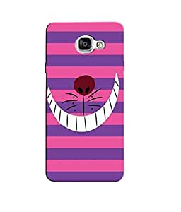 Citydreamz Laughing Cartoon/Pink & Purple Stripes Hard Polycarbonate Designer Back Case Cover For Samsung Galaxy A7 2016 Edition/Samsung Galaxy A710