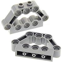 2 x Lego Technic Bau Rahmen Stein neu-hell grau 4x6 Lochstein 10134 21137 32531